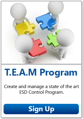 Desco T.E.A.M Program - Click to create and manage a state of the art ESD Control Program