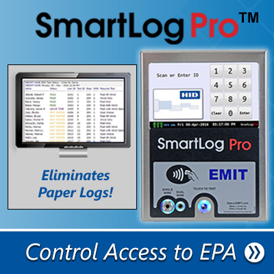 SmartLog Pro™ Wrist Strap and Footwear Tester Controls Access to an EPA - Click to Learn More
