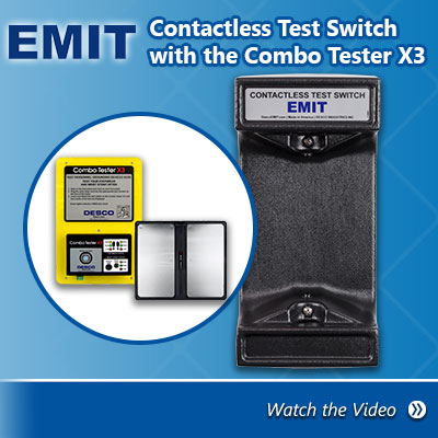 EMIT Contactless Test Switch with Desco Combo Tester X3